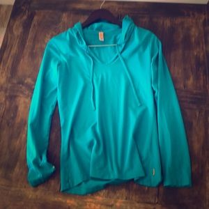 Lucy Long Sleeve Athletic Top- Teal
